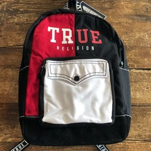 true religion logo backpack